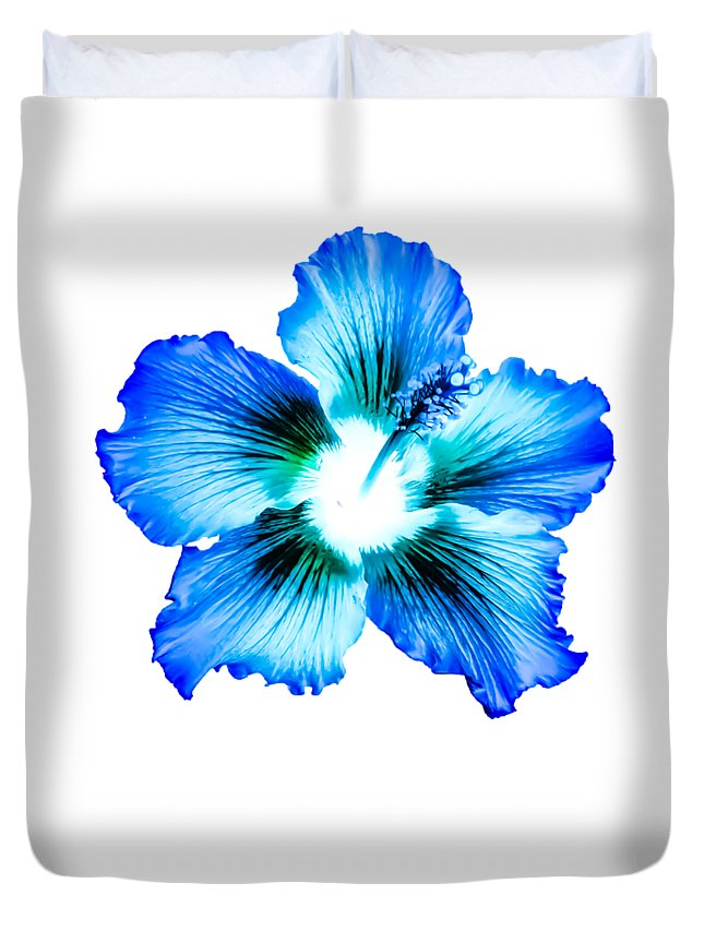 Blue Hibiscus Design Duvet Cover For Sale By Heather Joyce Morrill