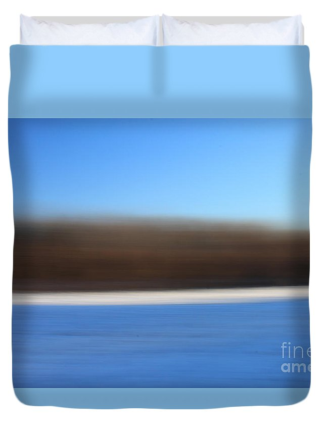Hadley Duvet Cover featuring the photograph Blue Hour Fields 2 by Aquadro Photography