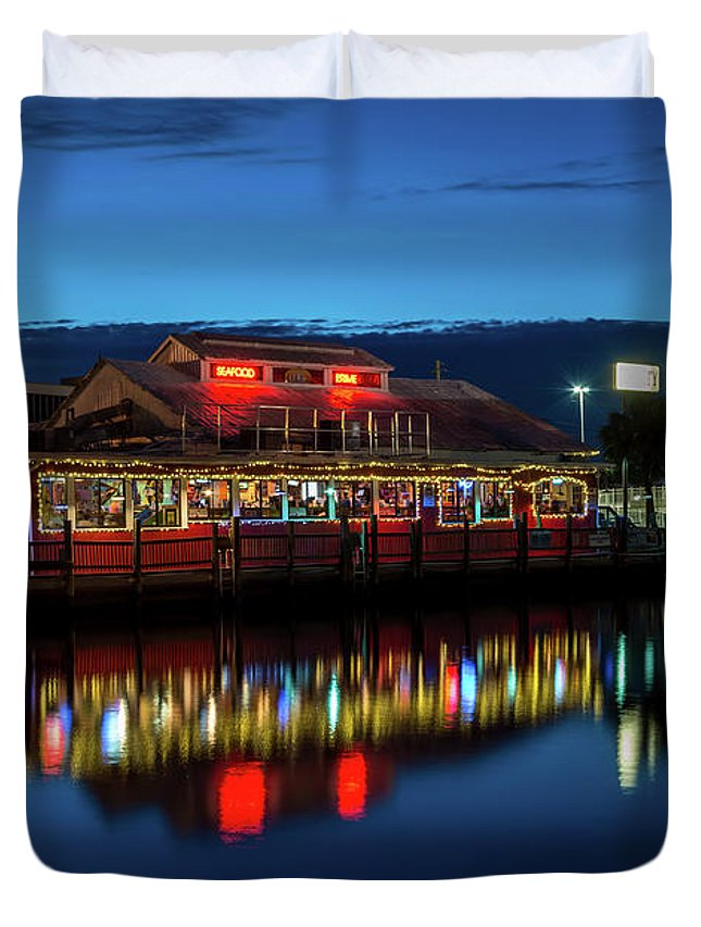 Usa Duvet Cover featuring the photograph Blue Hour by Marco Zottich