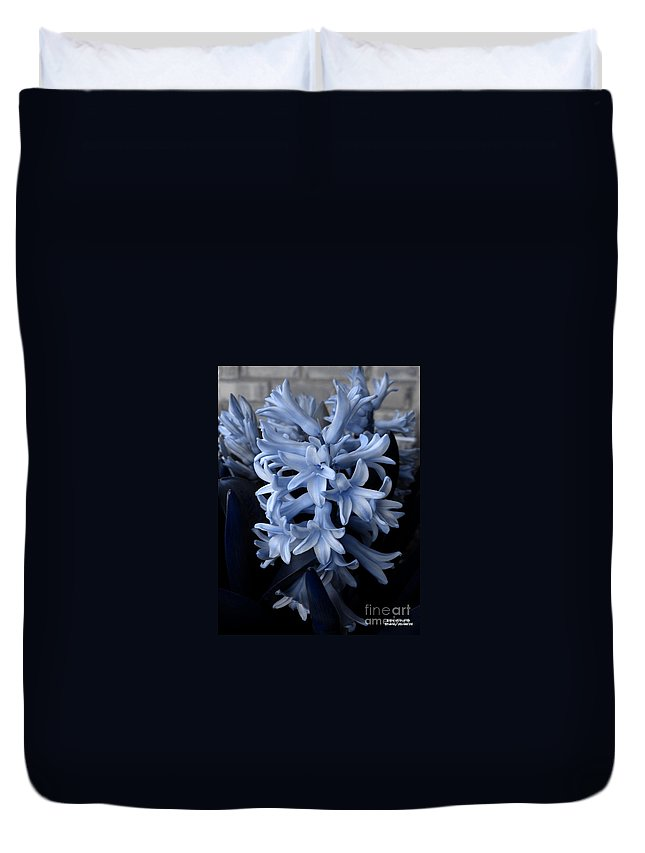 Blue Duvet Cover featuring the photograph Blue Hyacinth by Shelley Jones