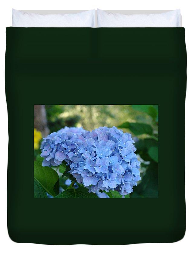 Hydrangea Duvet Cover featuring the photograph Blue Hydrangea Flower Art Prints Baslee Troutman by Baslee Troutman