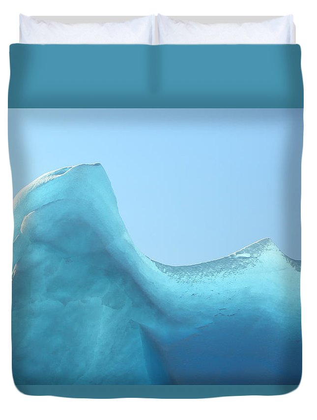 Ice Duvet Cover featuring the photograph Blue Ice by Bruce J Robinson