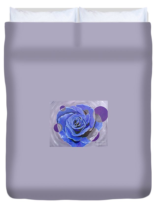 Acrylic Duvet Cover featuring the painting Blue Ice by Herschel Fall