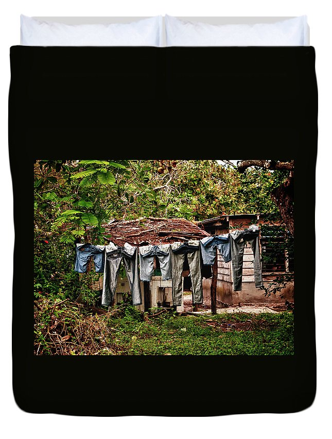 Blue Jeans Duvet Cover featuring the photograph Blue Jeans by Jessica Levant
