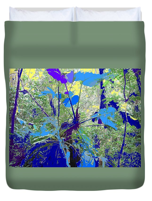 Duvet Cover featuring the photograph Blue Jungle by Ian MacDonald