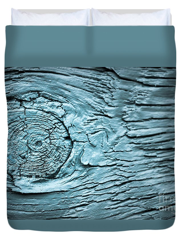 Abstract Duvet Cover featuring the photograph Blue Knot by Todd Blanchard