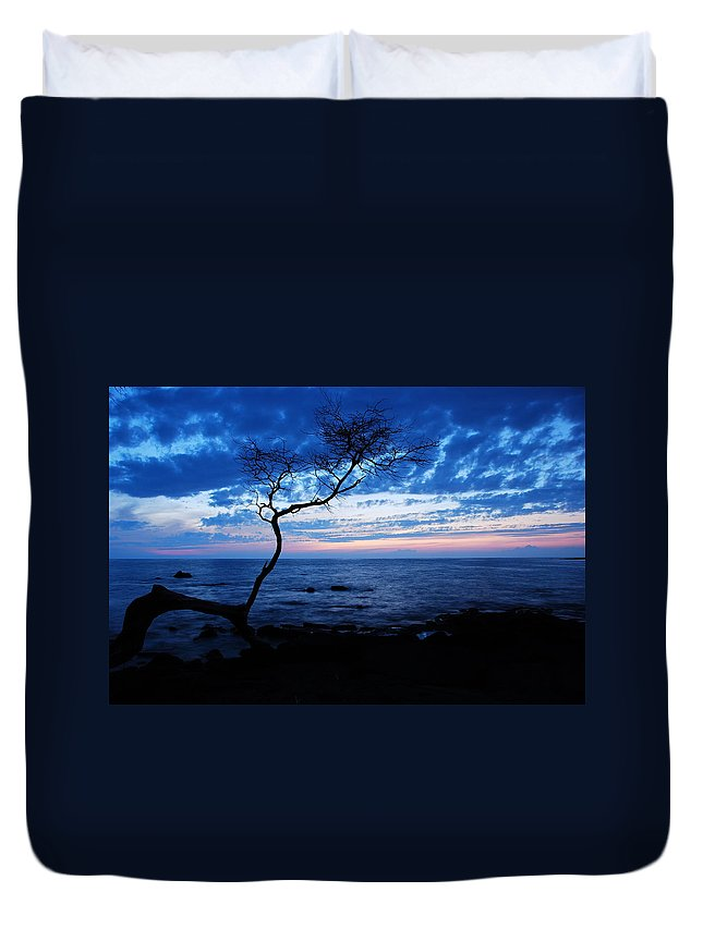 Blue Kona Duvet Cover featuring the photograph Blue Kona by Kelly Wade