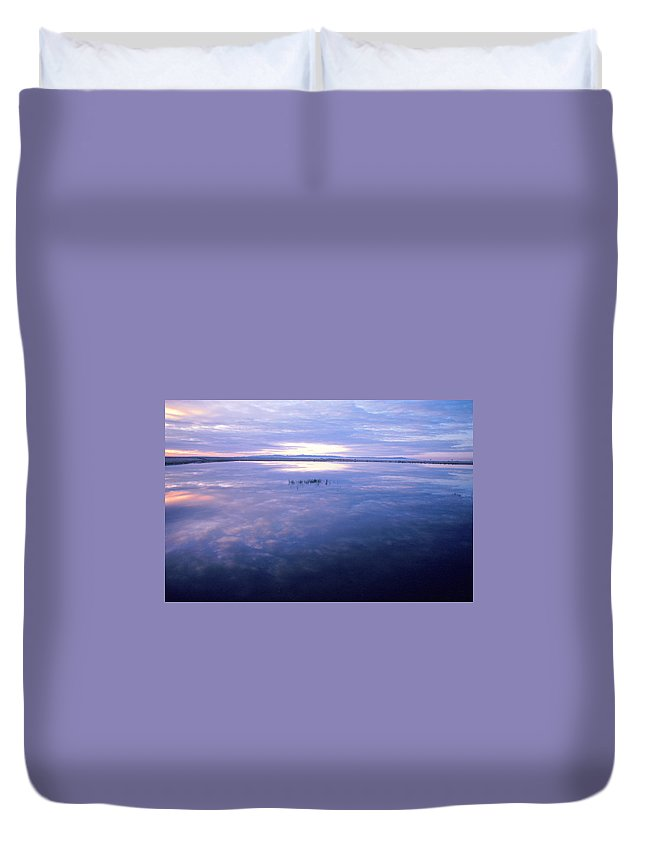 Water Duvet Cover featuring the photograph Blue Lagoon by Jerry McElroy