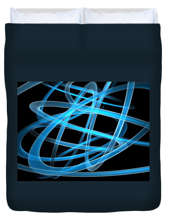 Scott Piers Duvet Cover featuring the painting Blue Light by Scott Piers