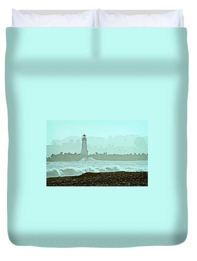 Blue Duvet Cover featuring the photograph Blue Mist 2 by Marilyn Hunt
