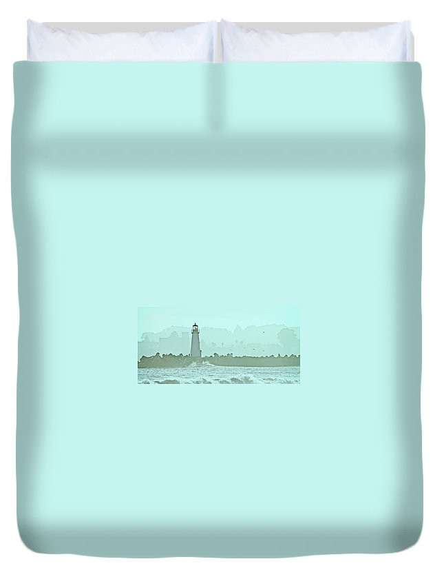 Blue Duvet Cover featuring the photograph Blue Mist 3 by Marilyn Hunt