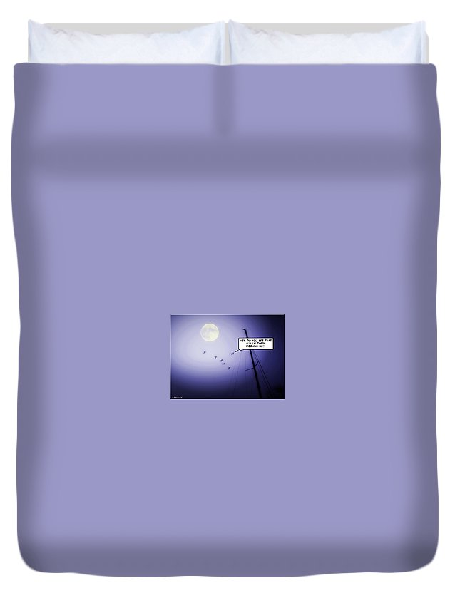 2d Duvet Cover featuring the photograph Blue Moon by Brian Wallace