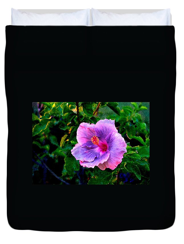 Flower Duvet Cover featuring the photograph Blue Moon Hibiscus by Steve Karol