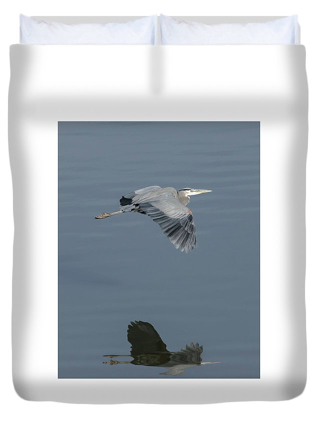 Nature Duvet Cover featuring the photograph Blue On Blue by Steve Marler