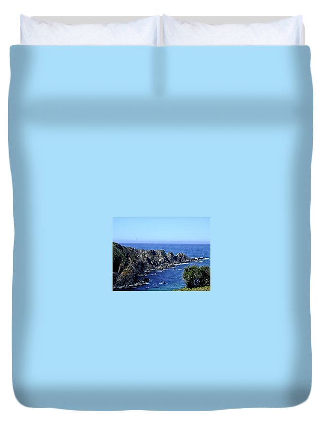 Blue Duvet Cover featuring the photograph Blue Pacific by Douglas Barnett