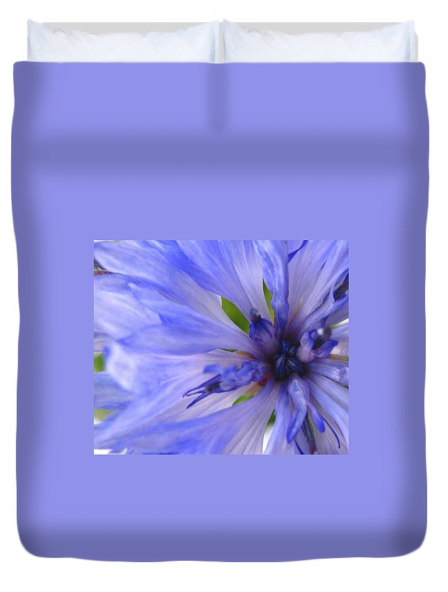 Flower Duvet Cover featuring the photograph Blue Princess by Rhonda Barrett