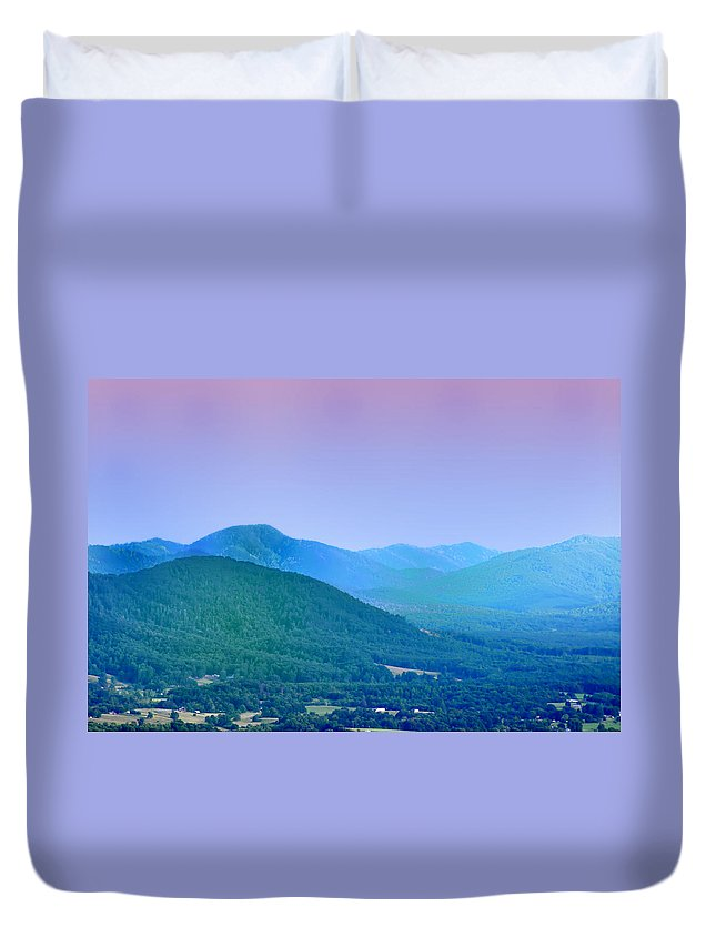 Mountains Duvet Cover featuring the photograph Blue Ridge Mountains by Bill Cannon