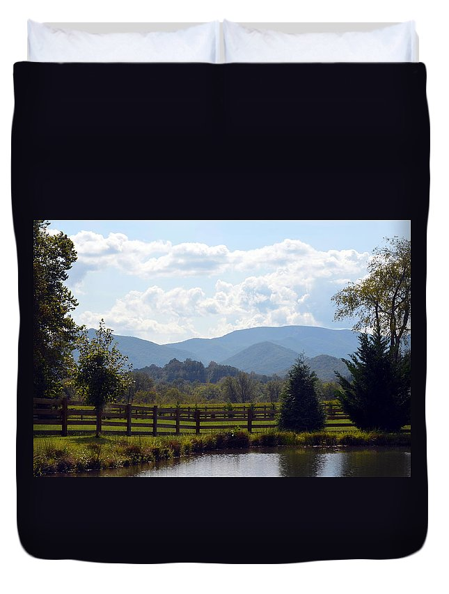 Blue Ridge Mountains Duvet Cover featuring the photograph Blue Ridge Mountains by Carla Parris