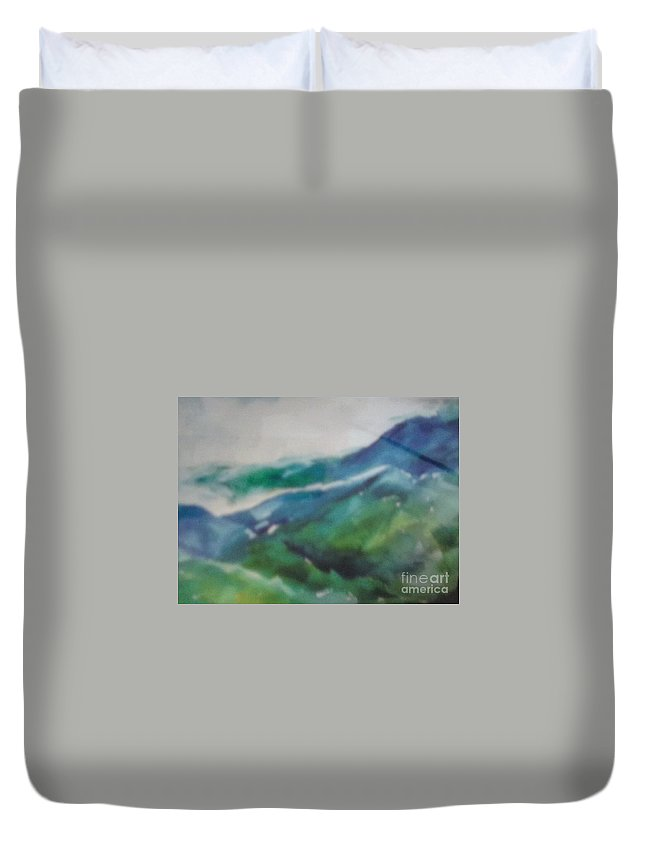 Duvet Cover featuring the painting Blue Ridge Mountains by Patricia Ducher