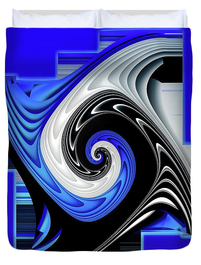 Fantasy Duvet Cover featuring the digital art Blue River by Shadowlea Is