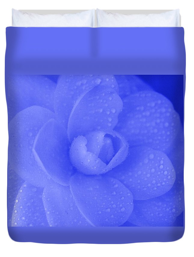 Rose Duvet Cover featuring the photograph Blue Rose by Joanna Aud