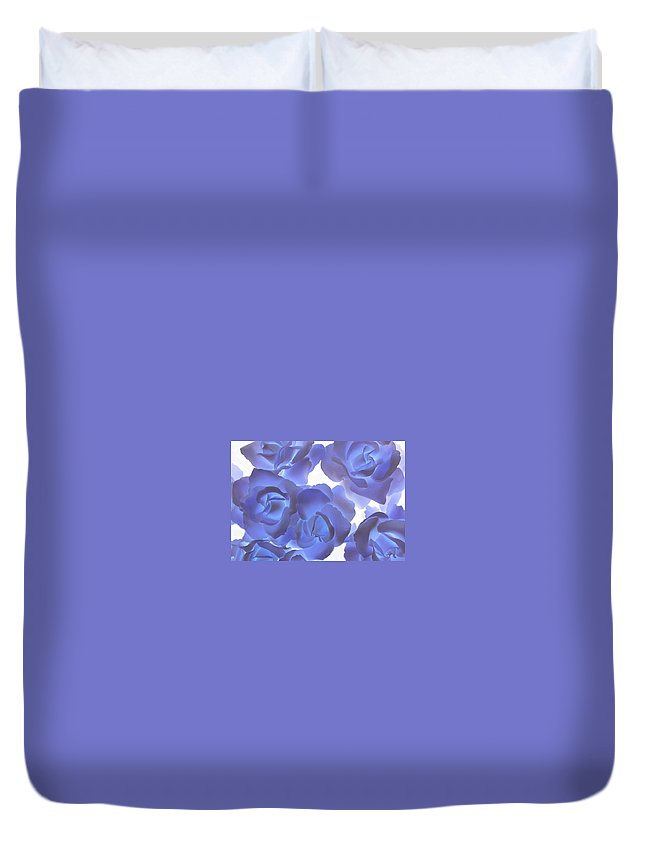 Blue Duvet Cover featuring the photograph Blue Roses by Tom Reynen