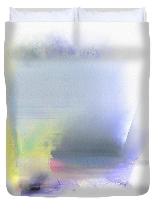 Ebsq Duvet Cover featuring the photograph Blue Sails by Dee Flouton