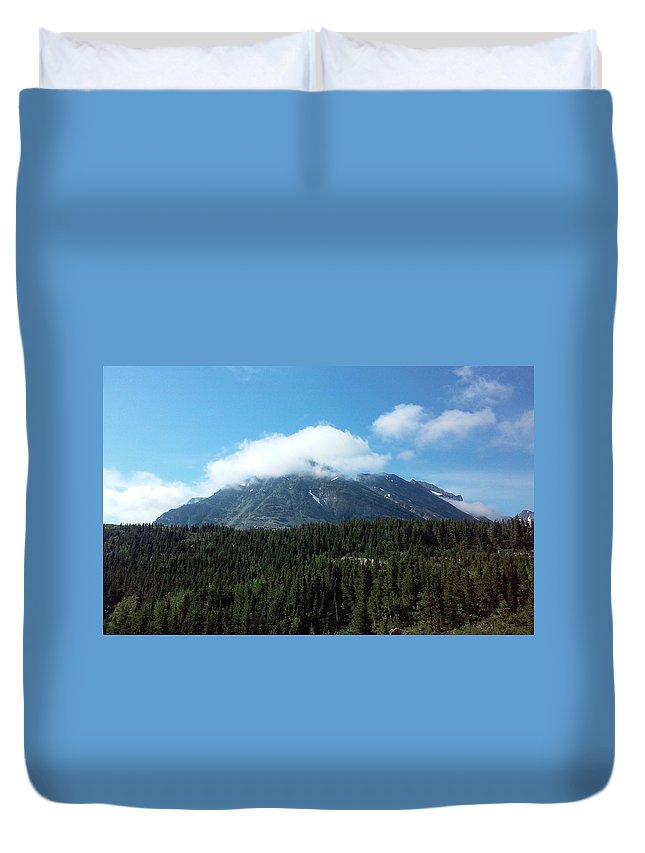 Montana Duvet Cover featuring the photograph Blue Skies by Carolyn Schreiner