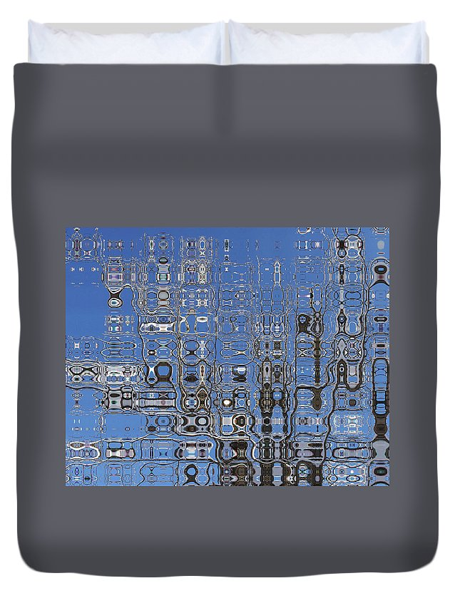 Blue Duvet Cover featuring the photograph Blue Sky Quilt by Tom Reynen