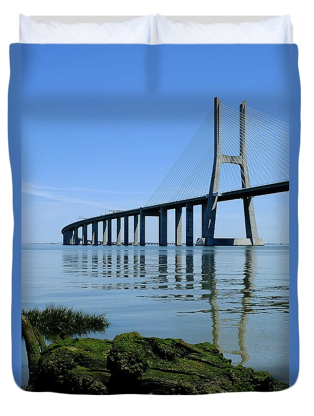 Blue Sunny Day Duvet Cover featuring the photograph Blue Sunny Day II by Marco Oliveira