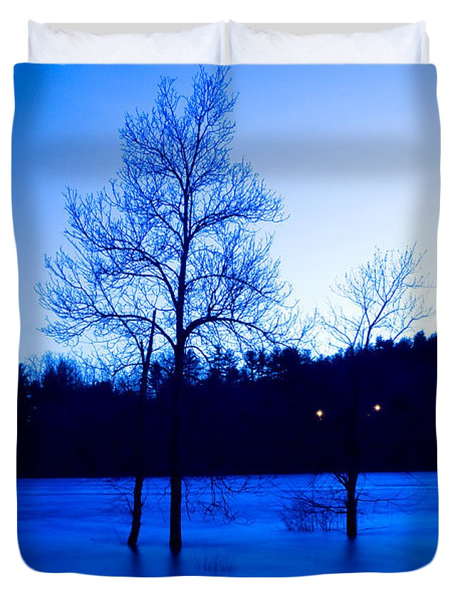 Water Duvet Cover featuring the photograph Blue Tide by Greg Fortier