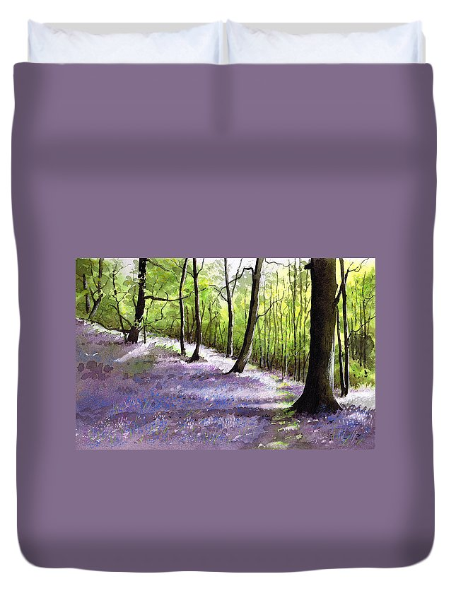 Bluebell Duvet Cover featuring the painting Bluebell Wood by Paul Dene Marlor