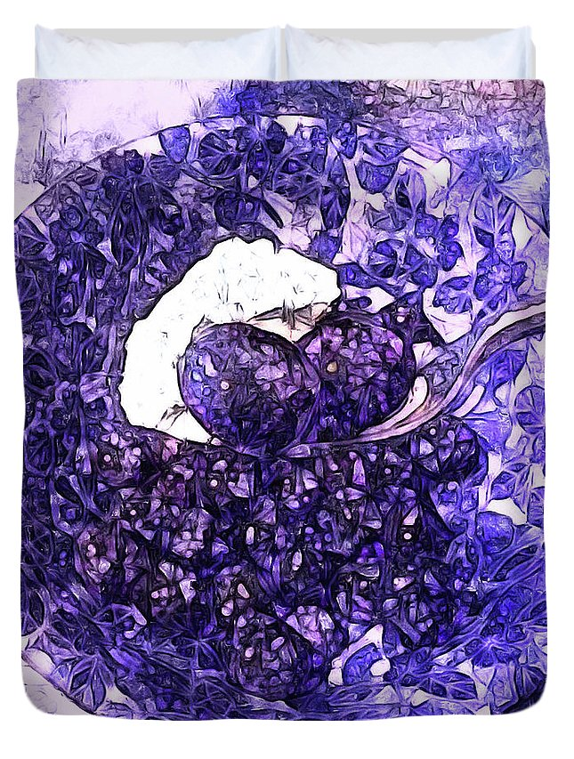 Blueberries Duvet Cover featuring the photograph Blueberries For Breakfast by Susan Maxwell Schmidt