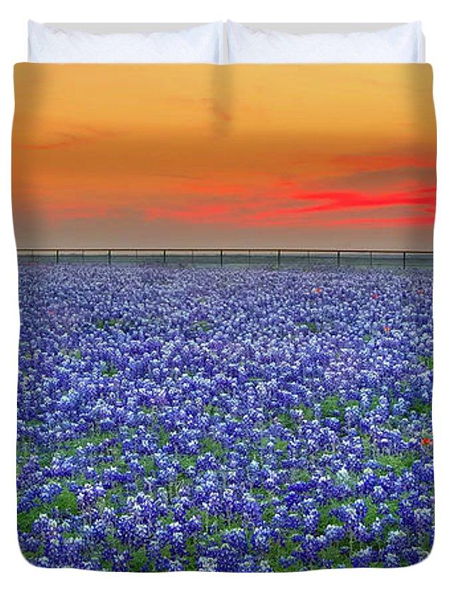 Texas Bluebonnet Duvet Covers
