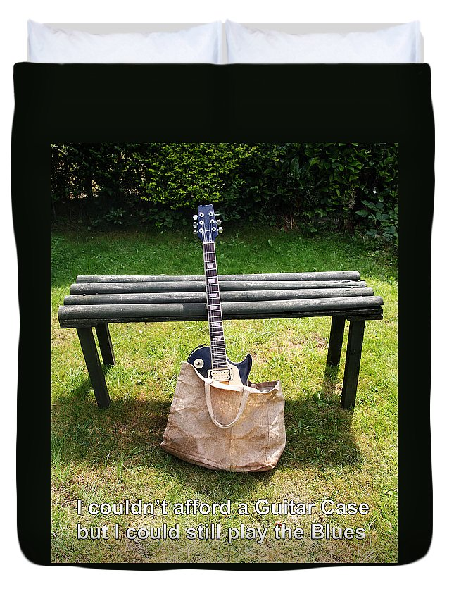 Guitar Bag Duvet Cover featuring the photograph Guitar Blues  by Tom Conway