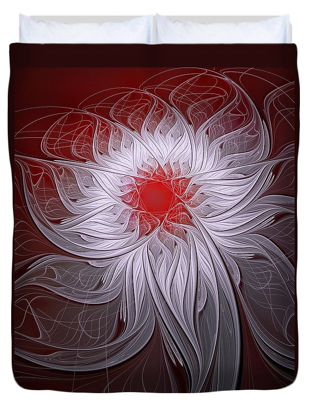 Digital Art Duvet Cover featuring the digital art Blush by Amanda Moore