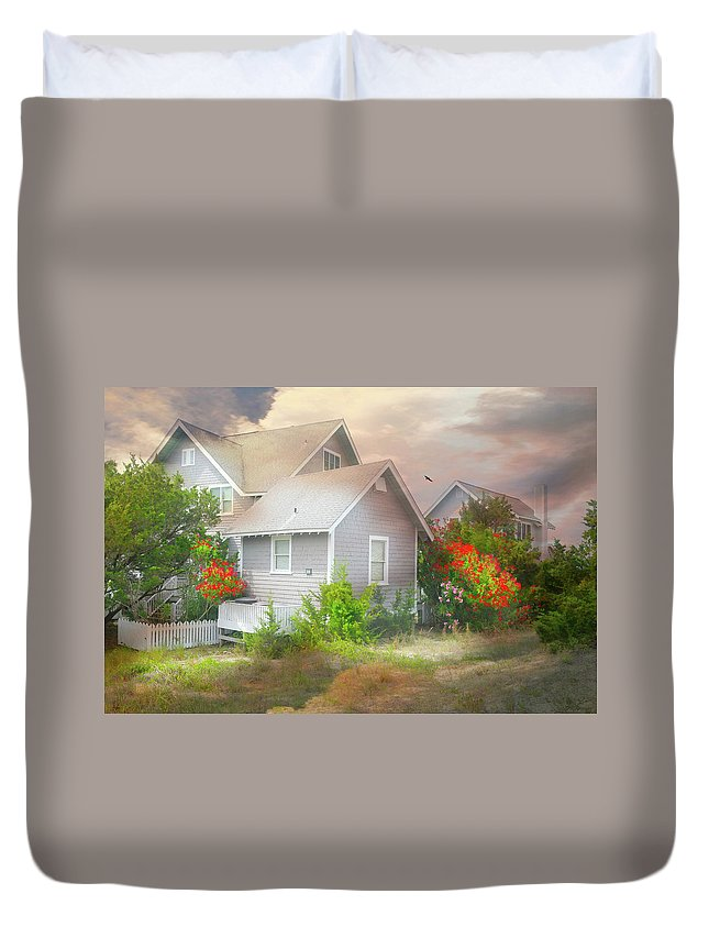 Bald Head Island Duvet Cover featuring the photograph Board Games by Diana Angstadt