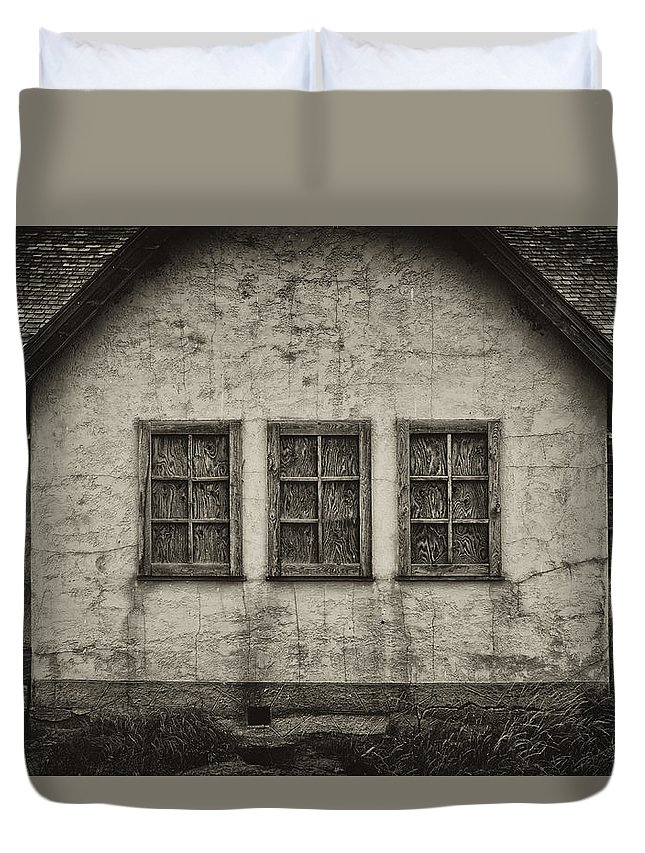 Abandoned Duvet Cover featuring the photograph Boarded Windows by Hugh Smith