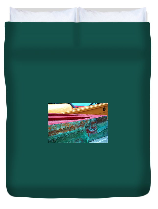 Boat Duvet Cover featuring the photograph Boat 0005 by Carol Ann Thomas
