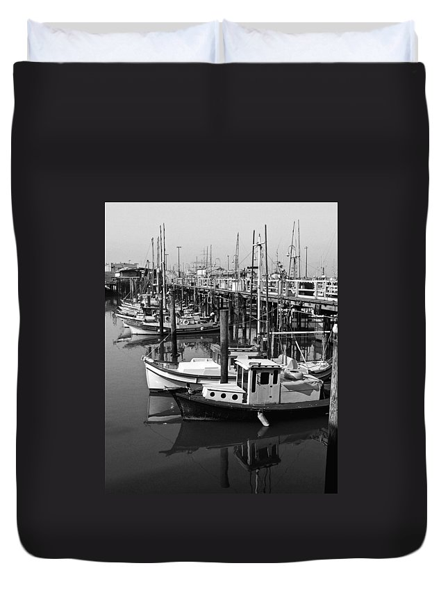 Boats Duvet Cover featuring the photograph Boat Reflections by Tom Reynen