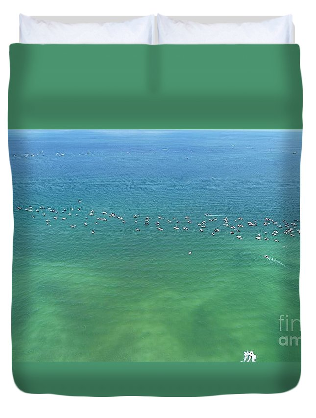 Florida Duvet Cover featuring the photograph Boating Life by Patrick Donovan