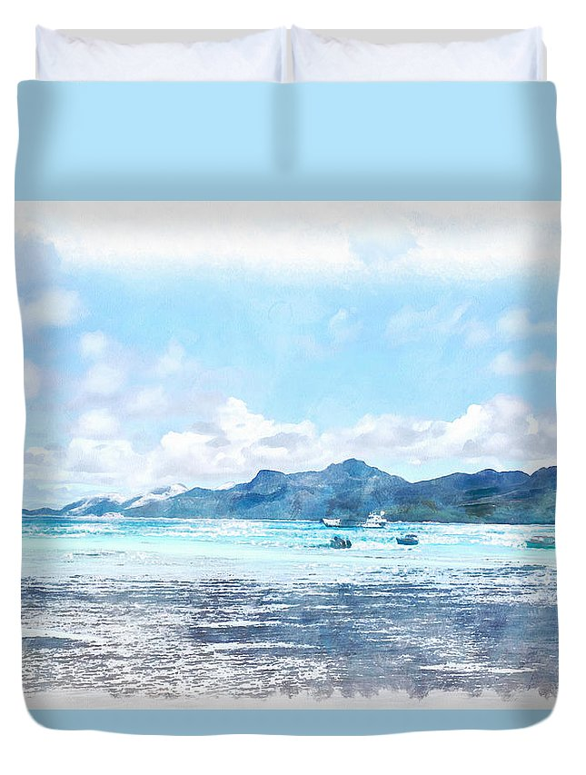 Boat Duvet Cover featuring the photograph Boating Must Be Fun by Ashish Agarwal