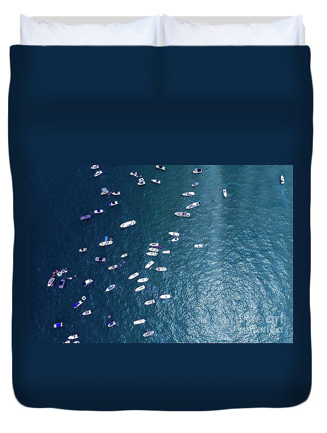 Boating Duvet Cover featuring the photograph Boating by Patrick Donovan
