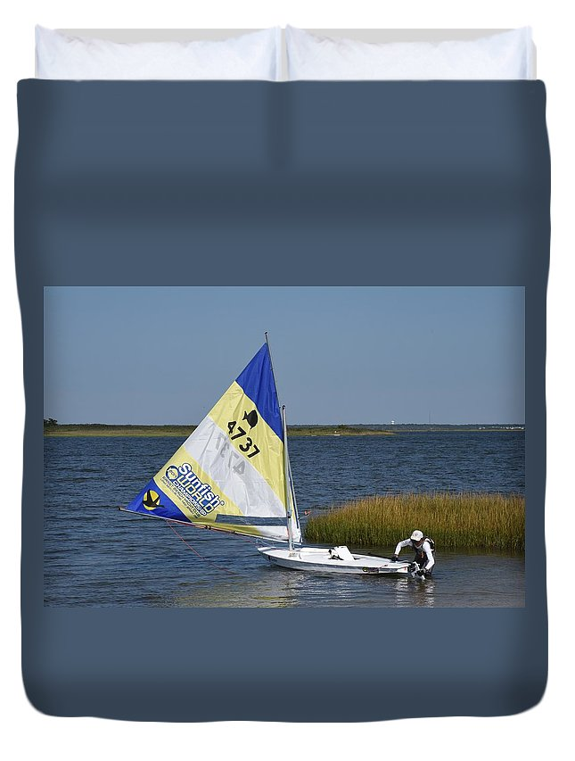 Boats Duvet Cover featuring the photograph Boats 170 by Joyce StJames