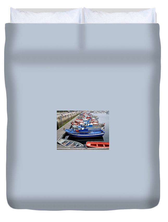 Norway Duvet Cover featuring the photograph Boats In Norway by Joan Minchak