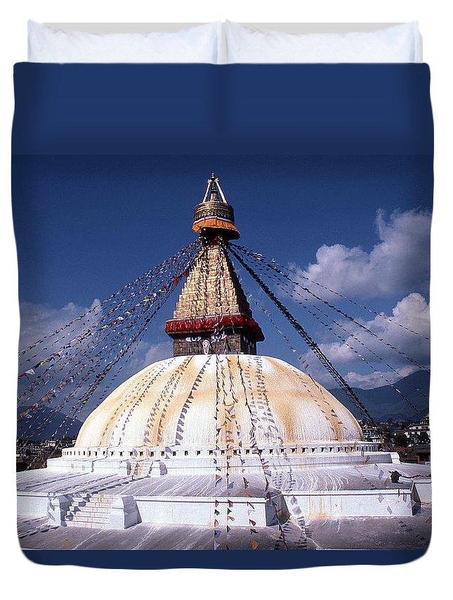 Bodhnath Stupa Duvet Cover featuring the photograph Bodhnath Stupa by Patrick Klauss