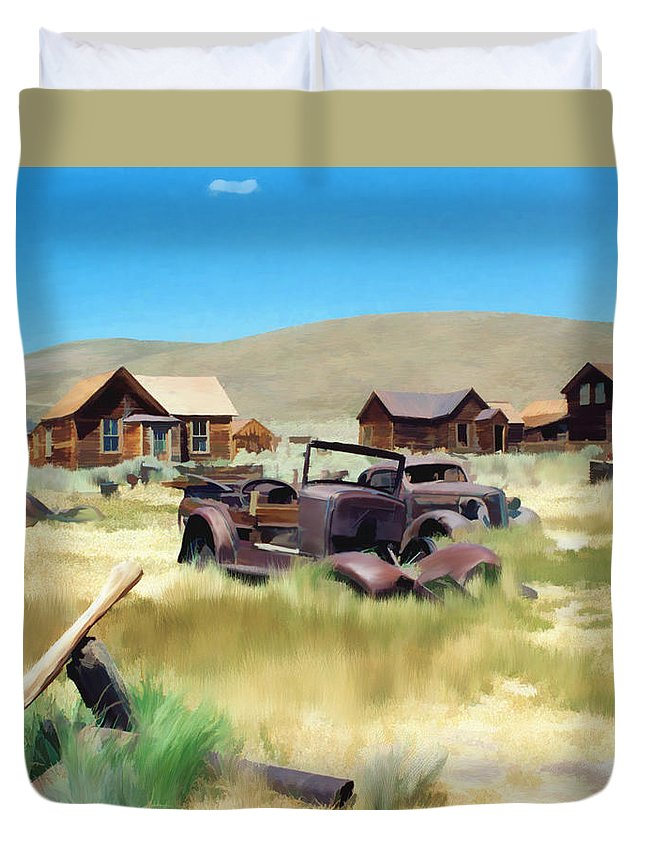 Bodie Duvet Cover featuring the photograph Bodie by Kurt Van Wagner