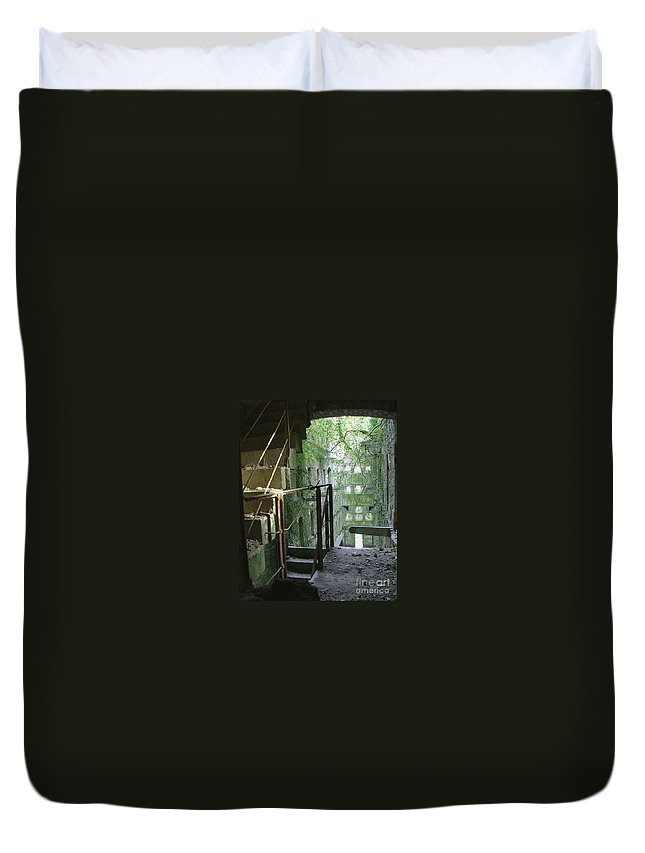 England Duvet Cover featuring the photograph Bodmin Gaol Cornwall England by Heather Lennox