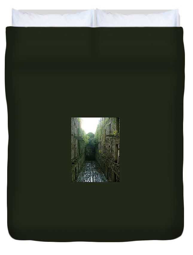 Bodmin Duvet Cover featuring the photograph Bodmin Gaol by Heather Lennox