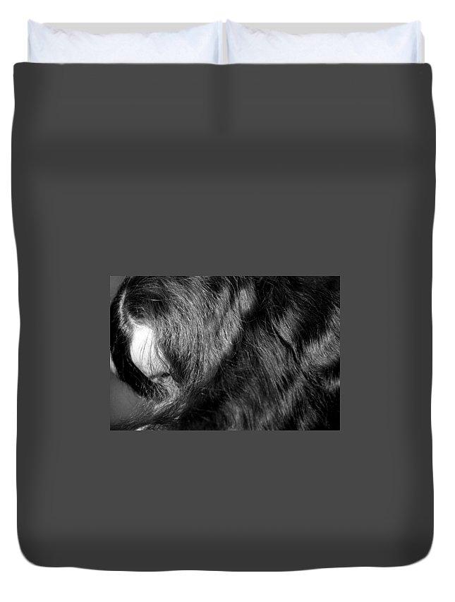 Hair Duvet Cover featuring the photograph Body Of Hair by Lonnie Paulson